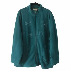Penmans Green Fleece Grandma Cardigan Sweater 2X